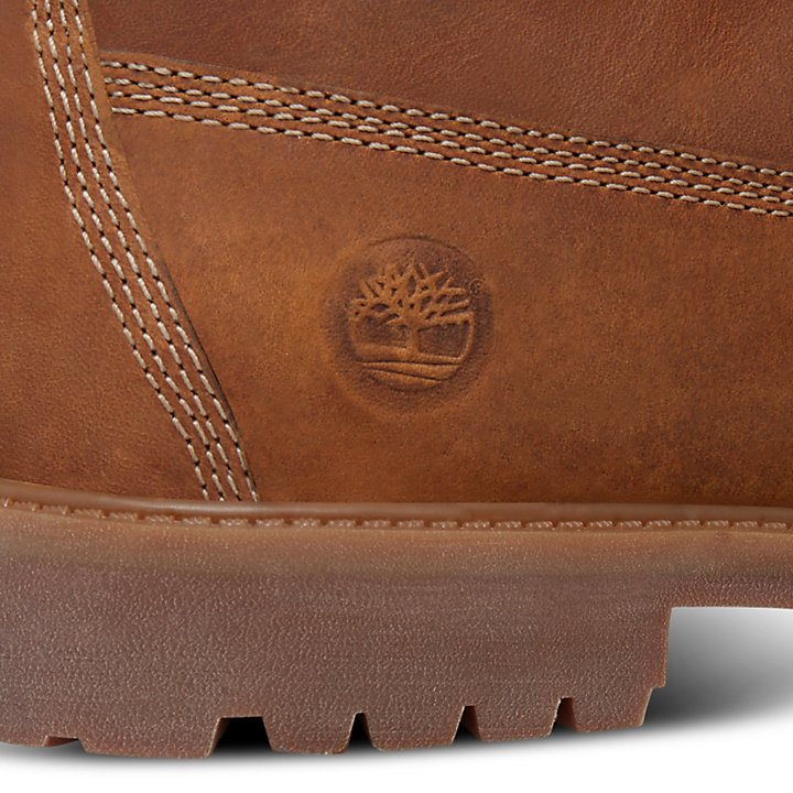 Authentics 6 Inch Boot for Juniors in Rust-