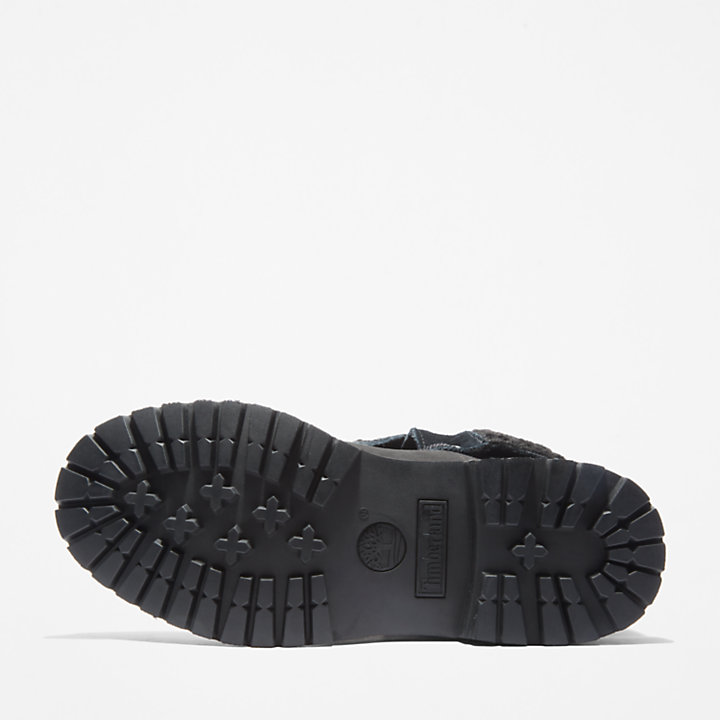 Authentics Teddy Fleece Boot for Women in Black-