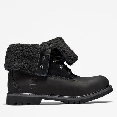Authentics+Teddy+Fleece+Boot+for+Women+in+Black 53e6466af