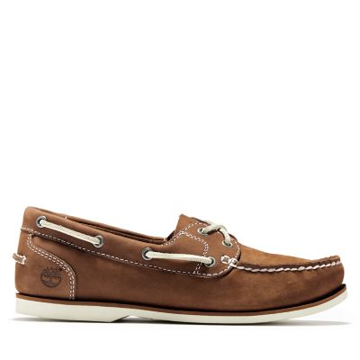 Classic+Unlined+Boat+Shoe+for+Women+in+Brown