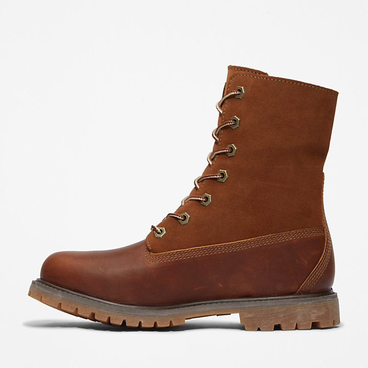 Authentics Teddy Fleece Damenstiefel in Braun-