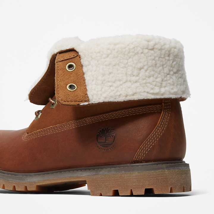 Authentics Teddy Fleece Boot for Women in Brown-