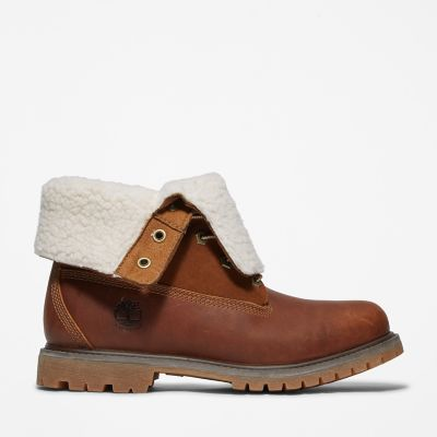 Authentics+Teddy+Fleece+Damenstiefel+in+Braun
