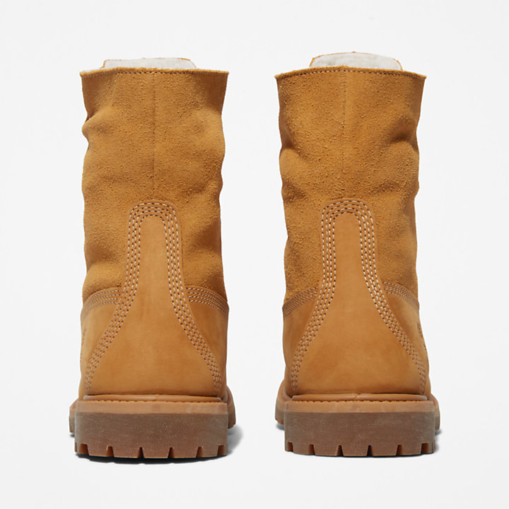 Authentics Teddy Fleece Boot for Women in Yellow-