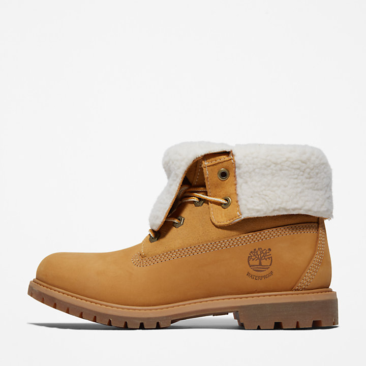 Roll-Top Boot for Women in Yellow-