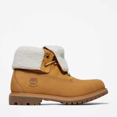 Authentics+Teddy+Fleece+Boot+voor+Dames+in+Geel