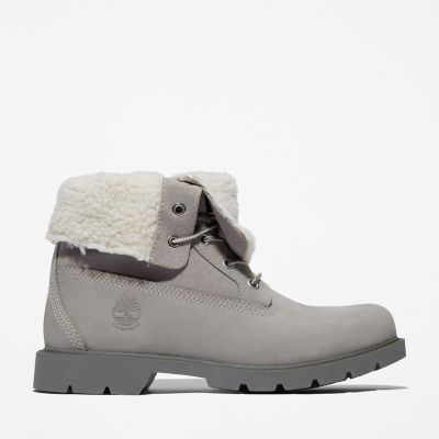 Authentics+Fleece-Damenstiefel+in+Taupe