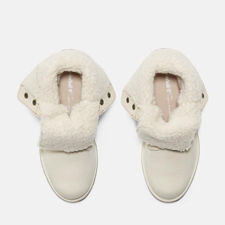 Authentics Teddy Fleece Boot for Women in White-