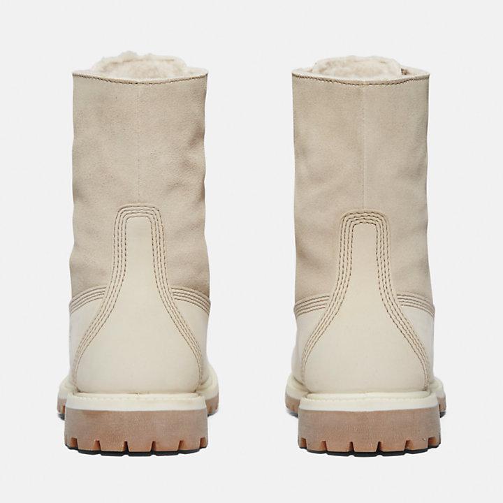 Bottine Authentics en molleton épais pour femme en blanc-