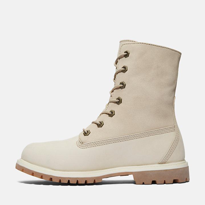Authentics Teddy Fleece Boot voor Dames in Wit-