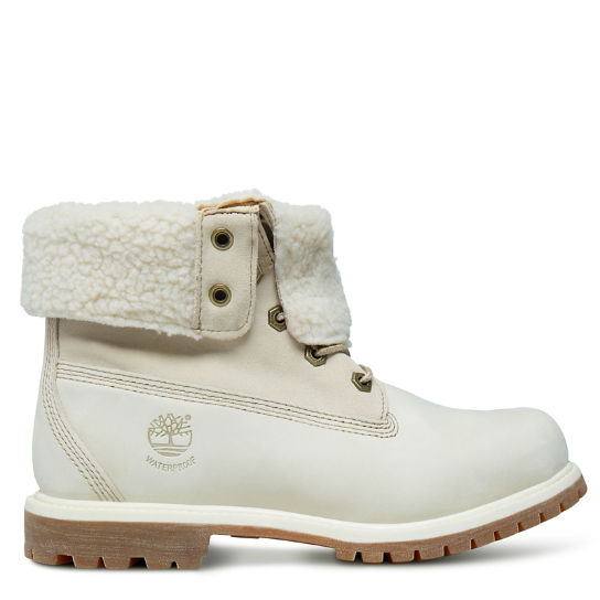 Authentics Teddy Fleece Boot voor Dames in Wit | Timberland