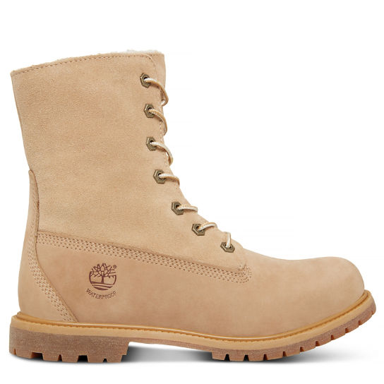 Authentics Teddy Fleece Boots mujer Beis | Timberland