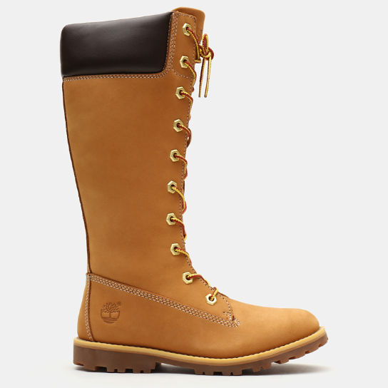 Tall Lace-Up Boot for Youth in Yellow | Timberland