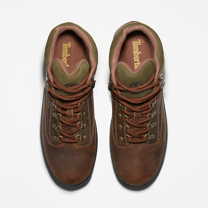 Bota de Better Leather Euro Hiker para Hombre en marrón-