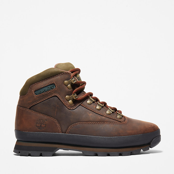 Leather Euro Hiker for Men in Brown-