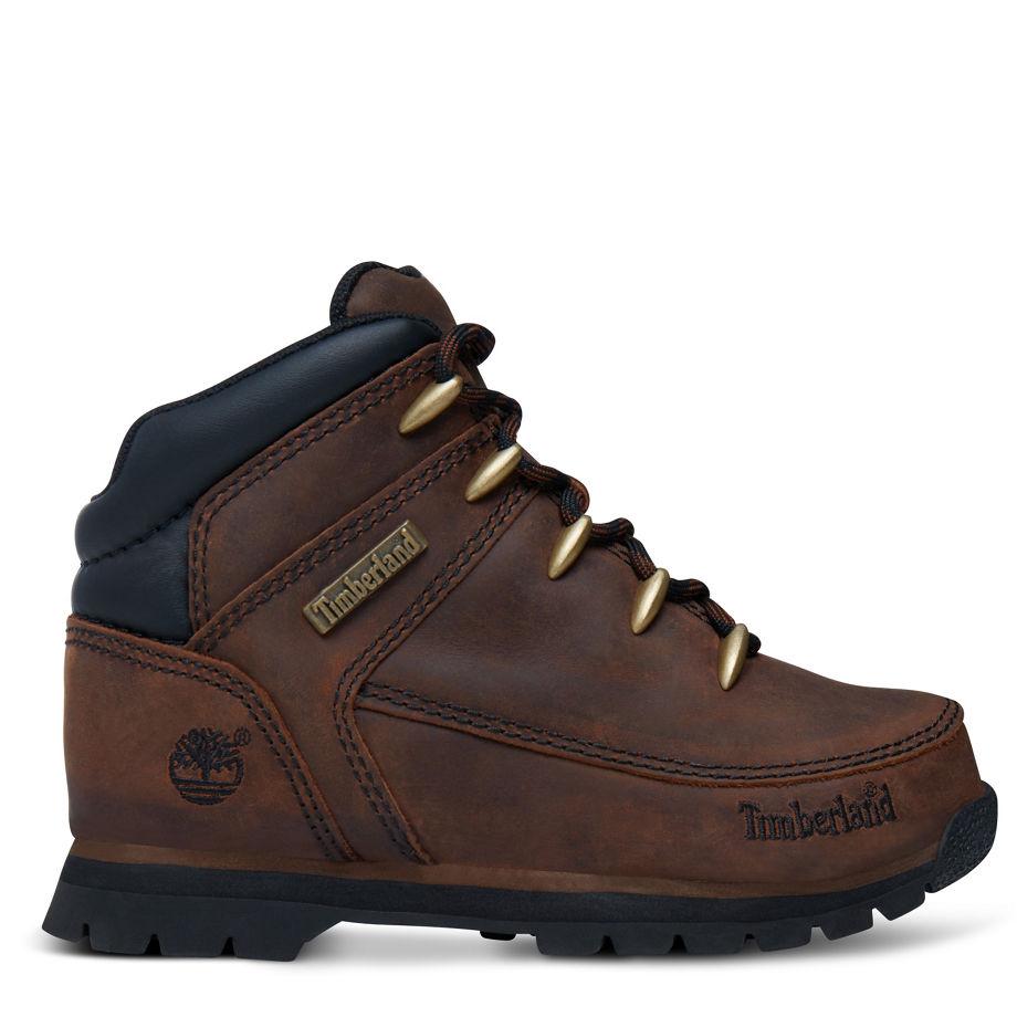 Timberland Euro Sprint Boot Bambino Dal 30,5 Al 35 Dark Brown Smooth