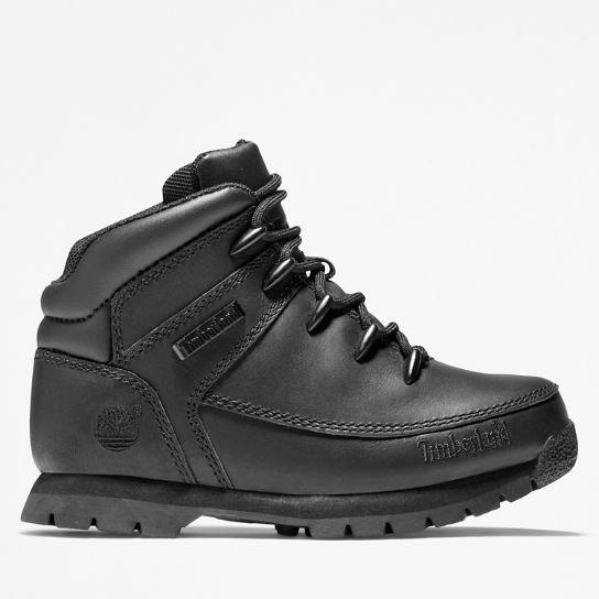 Euro Sprint Mid Hiker for Youth in Black | Timberland