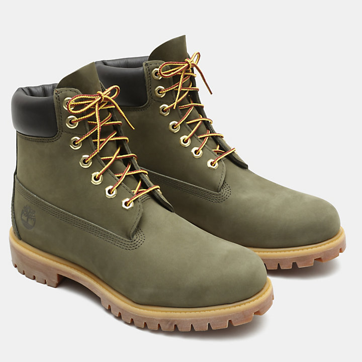 Exclusive 6 Inch Premium Boot for Men in Green-