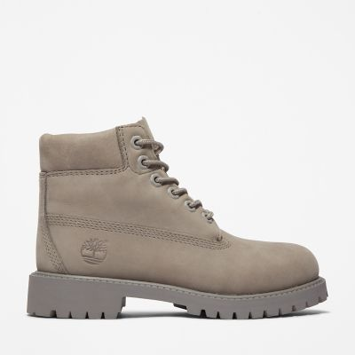 Premium+6+Inch+Boot+for+Junior+in+Light+Grey