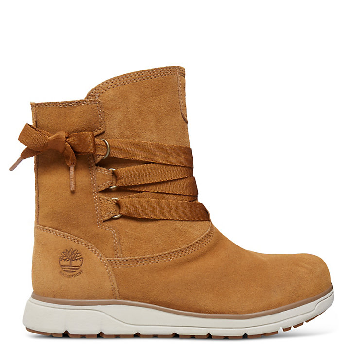 Leighland Leather Winter Boot for Women in Tan-