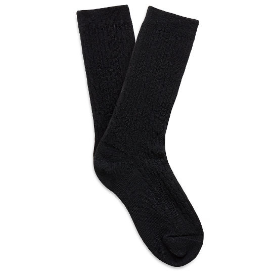 Premium Wool Light Cable Knit Socks para mujer Negro | Timberland