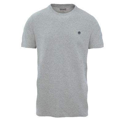 Crew+Neck+Cotton+T-Shirt+for+Men+in+Grey