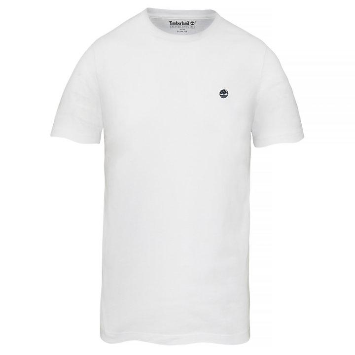 T-shirt met Ronde Hals voor Heren in wit-
