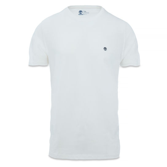 Left Chest Logo Tee Slim Homme Blanc | Timberland
