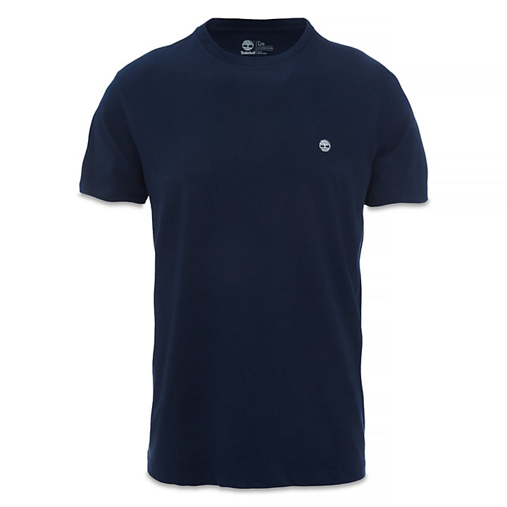 Crew Neck Cotton T-Shirt for Men in Navy-