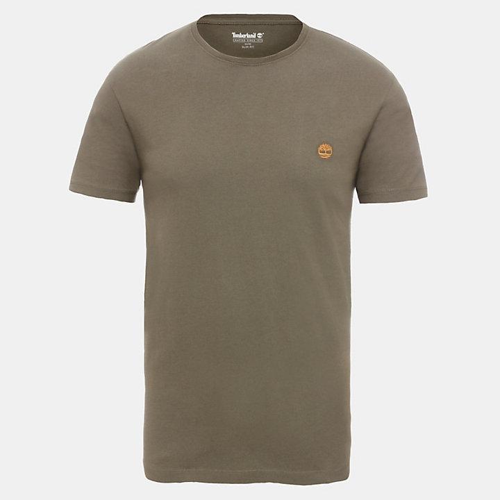 Baumwoll-T-Shirt mit Rundhalsausschnitt für Herren in Grün-