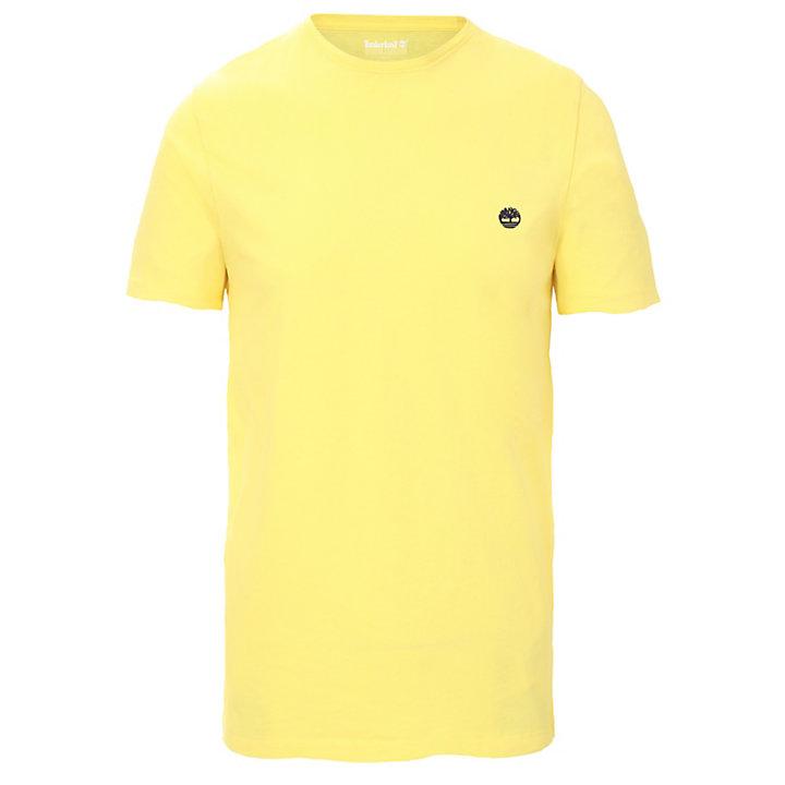 Baumwoll-T-Shirt mit Rundhalsausschnitt für Herren in Gelb-