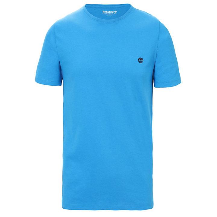 Baumwoll-T-Shirt mit Rundhalsausschnitt für Herren in Blau-