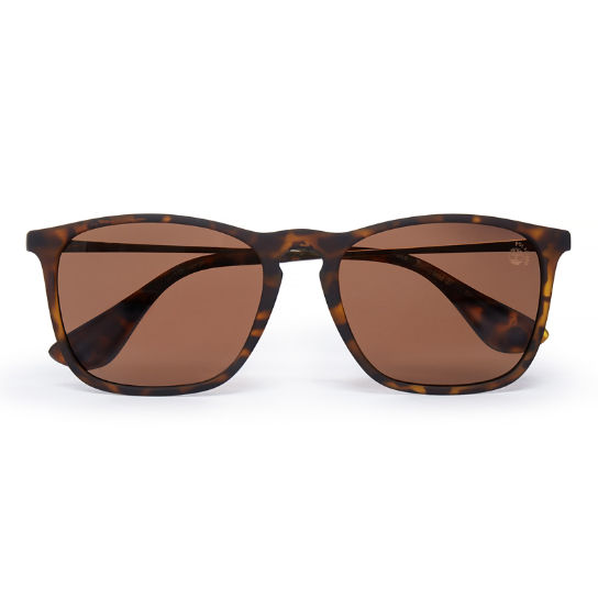 Rubberised Rectangle Sunglasses in Brown | Timberland