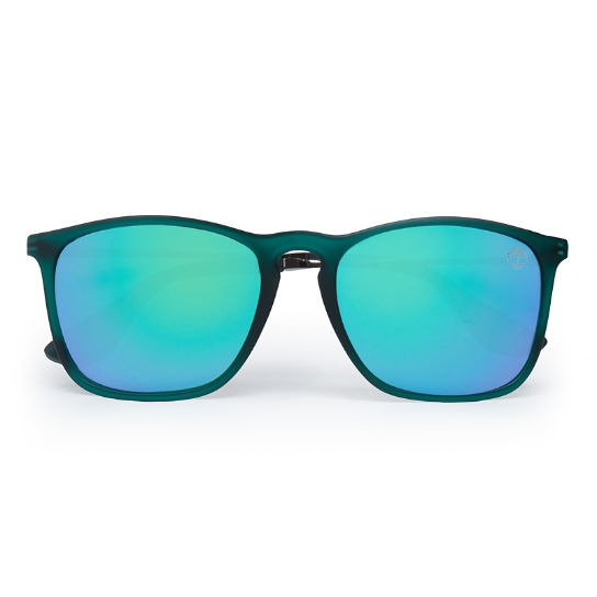 Rubberised Rectangle Sunglasses in Green | Timberland