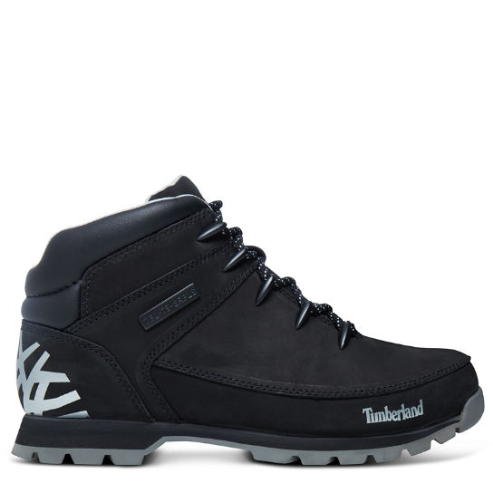 Men's Euro Sprint Hiker Mid Boot Black | Timberland