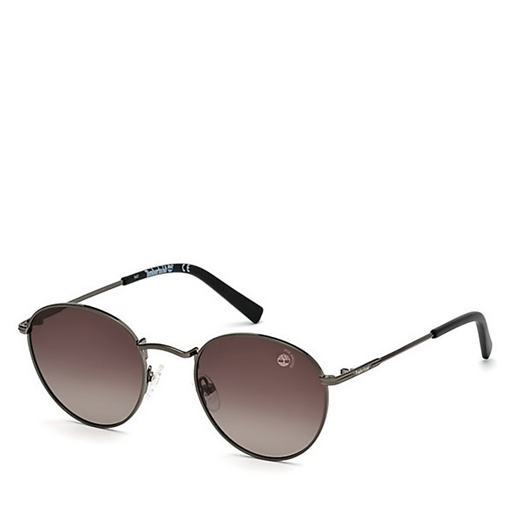 Round  Sunglasses for Men in Grey-