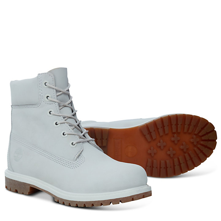 Premium 6 Inch Boot for Women in Pale Grey-
