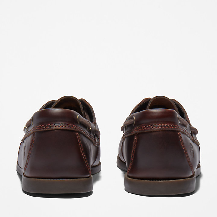Cedar Bay Boat Shoe for Men in Dark Brown-