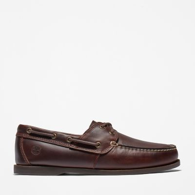 Cedar+Bay+Boat+Shoe+for+Men+in+Dark+Brown
