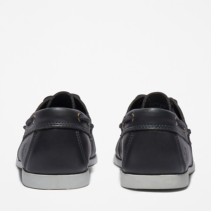 Cedar Bay Boat Shoe for Men in Navy-