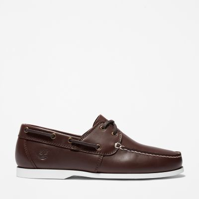 Cedar+Bay+Boat+Shoe+for+Men+in+Brown