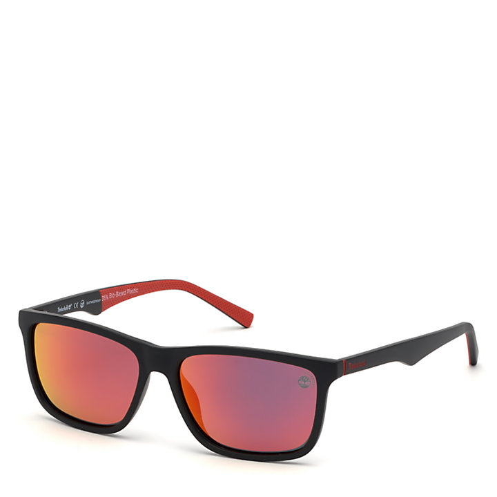 Rectangle Sunglasses for Men in Black-