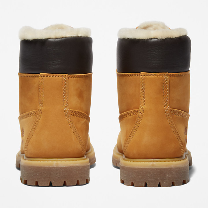 6 Inch Shearling Boot for Women in Yellow-