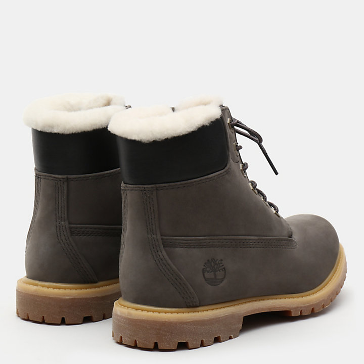 6 Inch Shearling Boot for Women in Dark Grey-