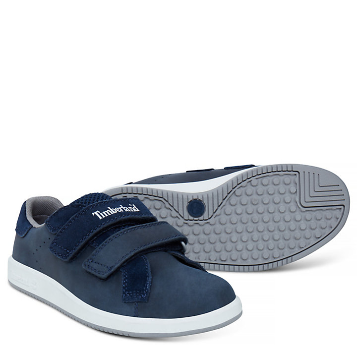 Jugend Courtside Hook-and-Loop Oxford Navyblau-
