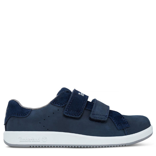 Courtside Hook-and-Loop Oxford para niño (de 30,5 a 35) Azul marino | Timberland