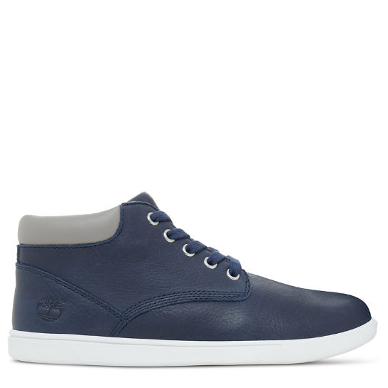 Jugend Groveton Leather Chukka Boot Navyblau | Timberland