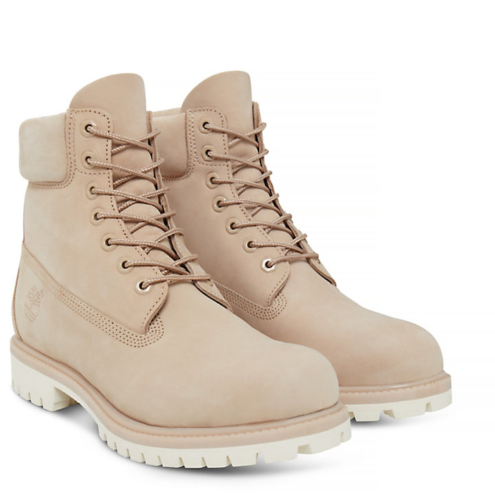 Premium 6-inch Boot voor Heren in Beige-