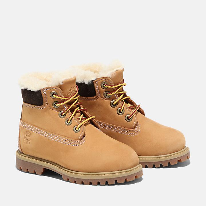 Bota de Invierno 6 Inch Premium Timberland® para Niño (de 20 a 30) en amarillo-