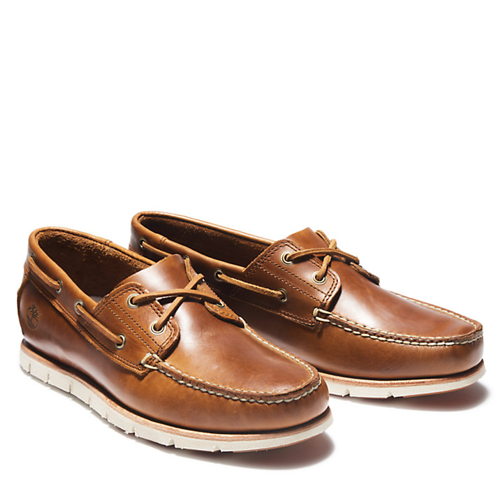 Tidelands Boat Shoes for Men in Brown-